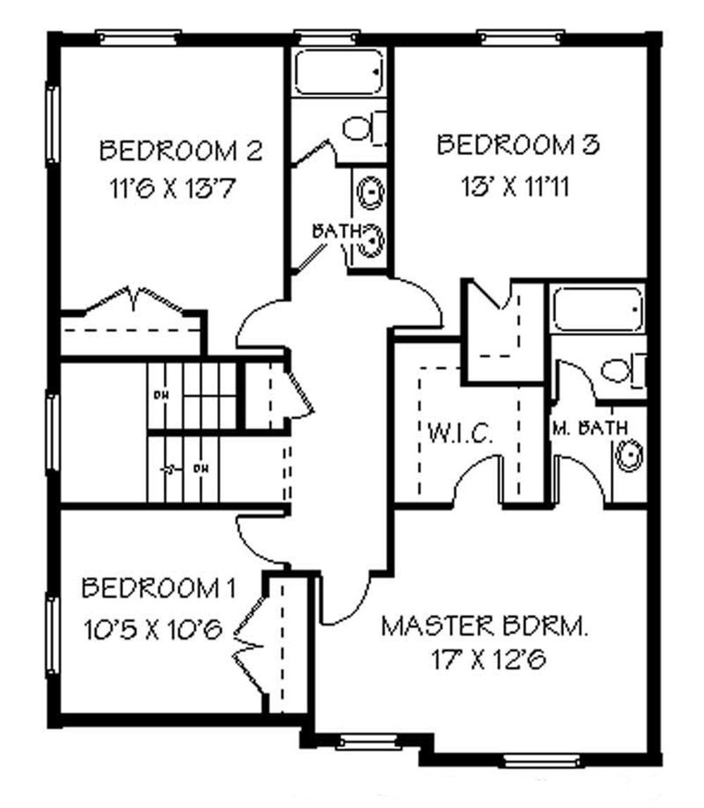 129-1027: Floor Plan Upper Level