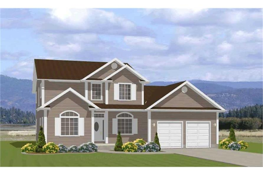 5-Bedroom, 2772 Sq Ft Country Home Plan - 129-1027 - Main Exterior