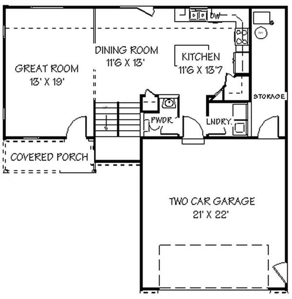 129-1028: Floor Plan Main Level
