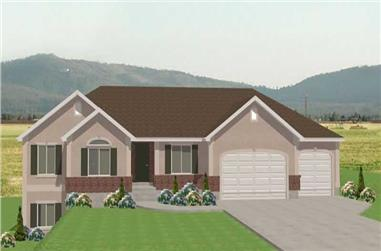 3-Bedroom, 1681 Sq Ft Contemporary Home Plan - 129-1029 - Main Exterior