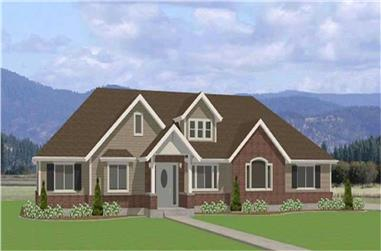 3-Bedroom, 2120 Sq Ft Contemporary Home Plan - 129-1030 - Main Exterior