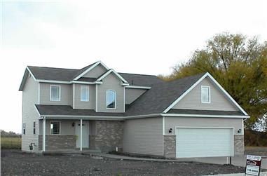 3-Bedroom, 1417 Sq Ft Contemporary Home Plan - 129-1031 - Main Exterior