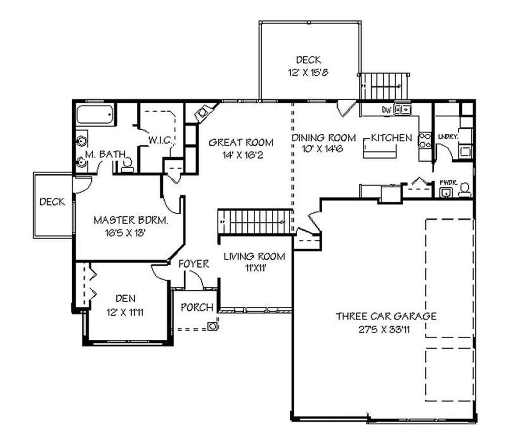 129-1032: Floor Plan Main Level