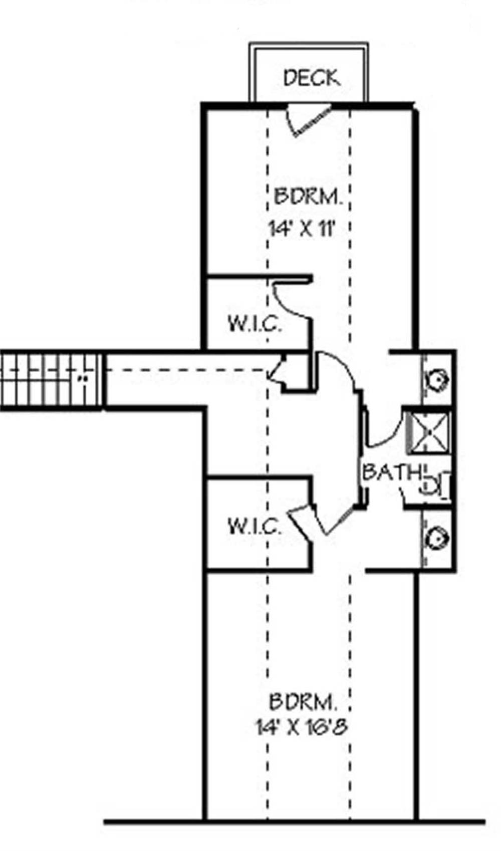 129-1032: Floor Plan Upper Level