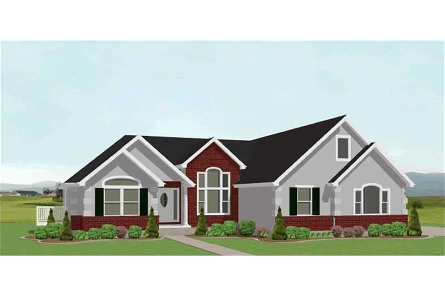 Home Plan Rendering of this 3-Bedroom,2318 Sq Ft Plan -129-1032