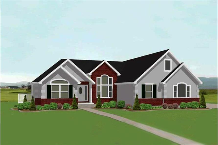 3-Bedroom, 2318 Sq Ft Country Home Plan - 129-1032 - Main Exterior