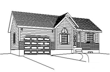 2-Bedroom, 908 Sq Ft Contemporary Home Plan - 129-1034 - Main Exterior