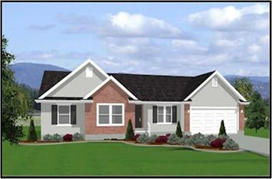 3-Bedroom, 1404 Sq Ft Contemporary Home Plan - 129-1037 - Main Exterior