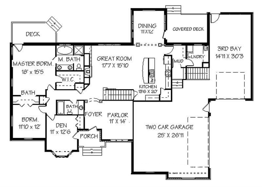 129-1038: Floor Plan Main Level