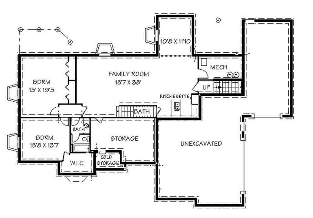 129-1038: Floor Plan Basement