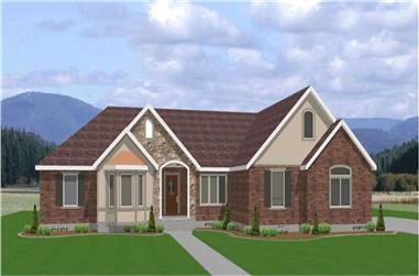 3-Bedroom, 2112 Sq Ft Contemporary Home Plan - 129-1038 - Main Exterior