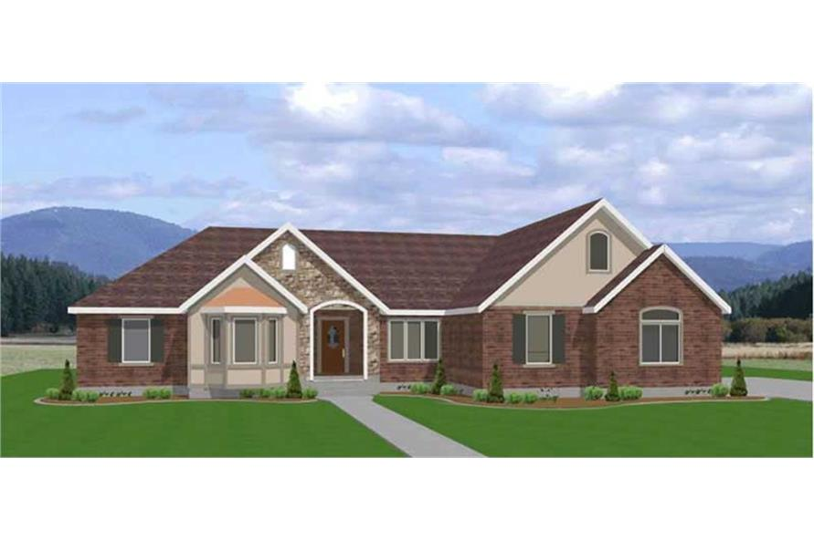 Contemporary, Ranch House Plans - Home Design EDC-R2112 # 6553