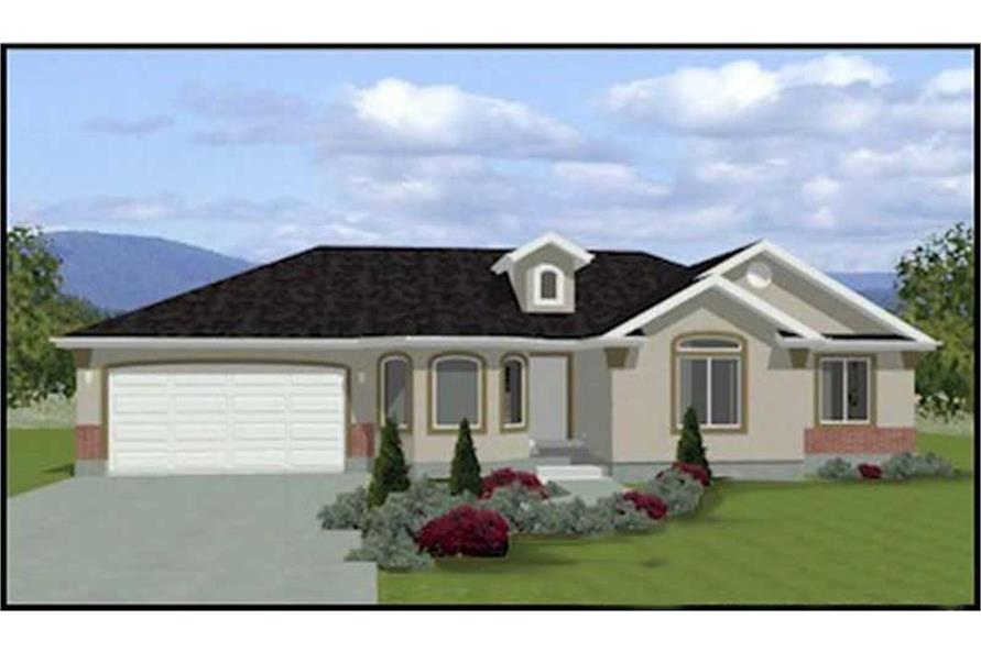 3-Bedroom, 1402 Sq Ft Contemporary Home Plan - 129-1040 - Main Exterior