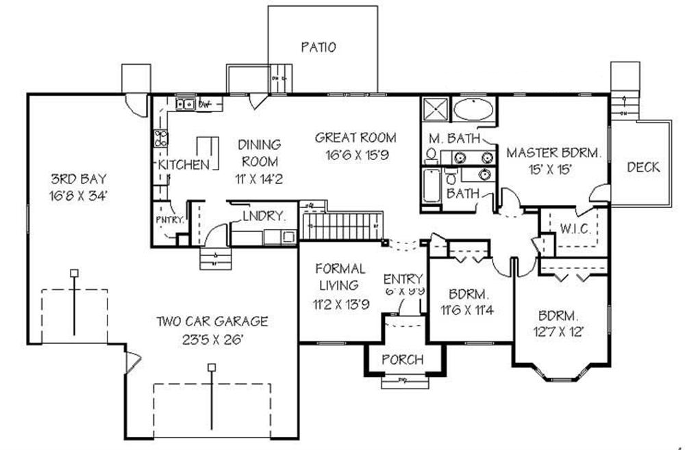 129-1041: Floor Plan Main Level