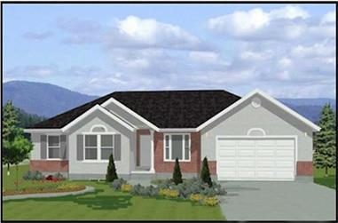 3-Bedroom, 1382 Sq Ft Contemporary Home Plan - 129-1042 - Main Exterior