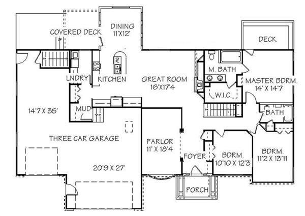 129-1043: Floor Plan Main Level