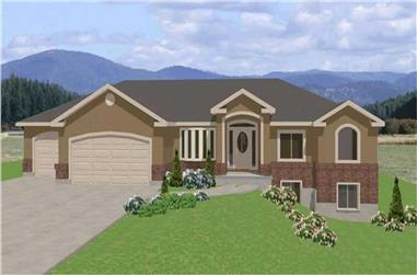 3-Bedroom, 2045 Sq Ft Contemporary Home Plan - 129-1043 - Main Exterior