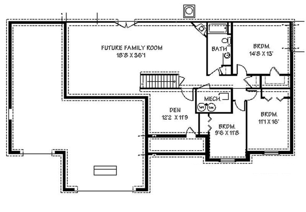 129-1044: Floor Plan Basement