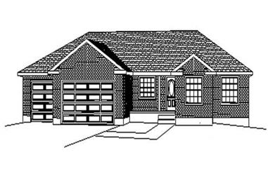 3-Bedroom, 1690 Sq Ft Contemporary Home Plan - 129-1044 - Main Exterior