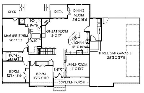 129-1045: Floor Plan Main Level
