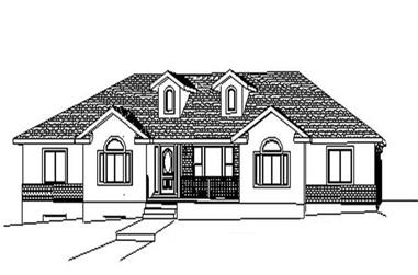 6-Bedroom, 2082 Sq Ft Contemporary Home Plan - 129-1045 - Main Exterior