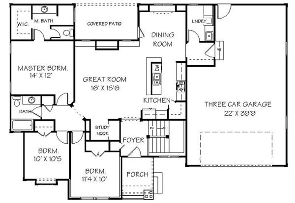 129-1046: Floor Plan Main Level