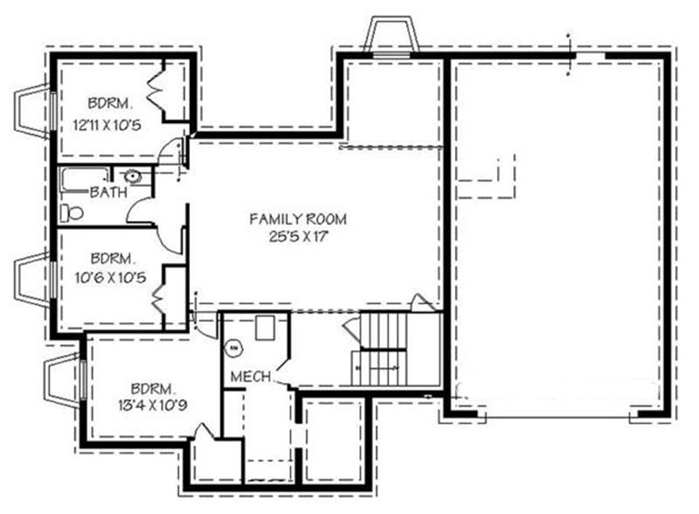 129-1046: Floor Plan Basement