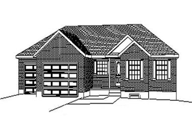 3-Bedroom, 1786 Sq Ft Contemporary Home Plan - 129-1048 - Main Exterior