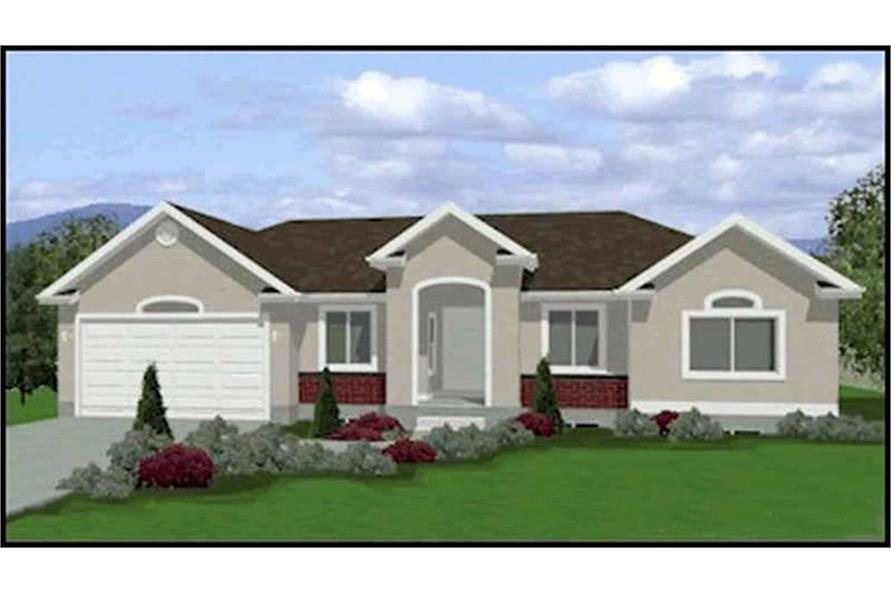 3-Bedroom, 1423 Sq Ft Contemporary Home Plan - 129-1049 - Main Exterior