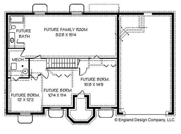 Ranch contemporary house plans home design edc r1448 8247 Ranch basement floor plans