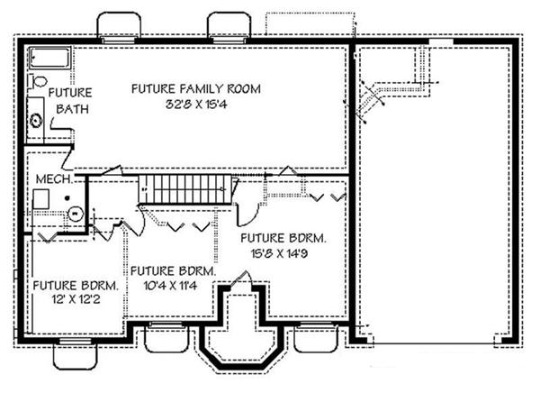 129-1050: Floor Plan Basement