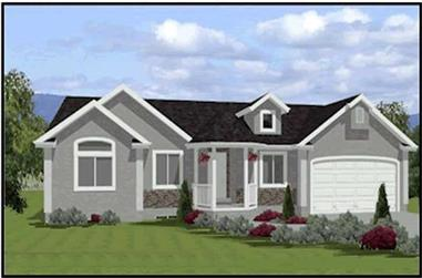 3-Bedroom, 1448 Sq Ft Contemporary Home Plan - 129-1050 - Main Exterior
