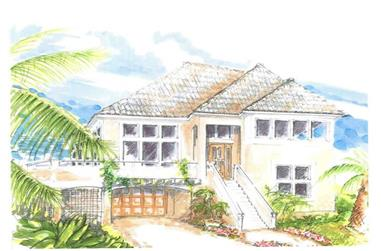 4-Bedroom, 2358 Sq Ft Coastal House Plan - 130-1001 - Front Exterior
