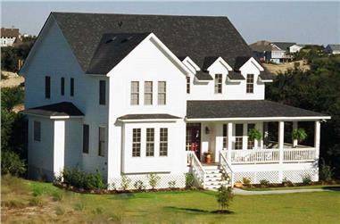 4-Bedroom, 2459 Sq Ft Cape Cod Home Plan - 130-1004 - Main Exterior