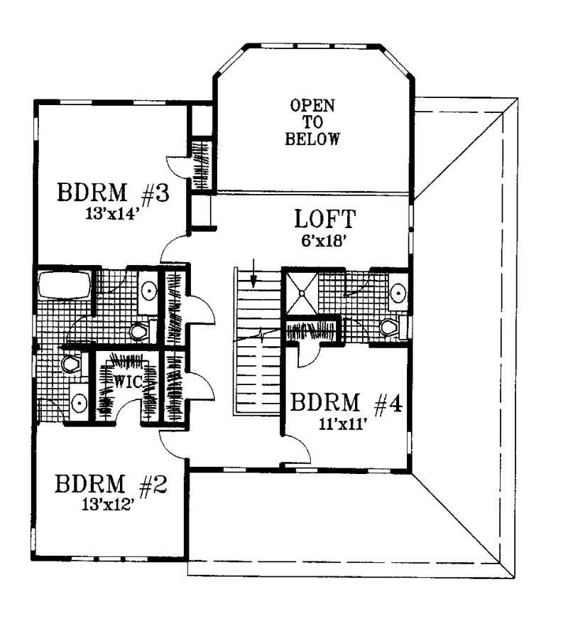 House Plan 130 1004 4 Bedroom 2459 Sq Ft Cape Cod
