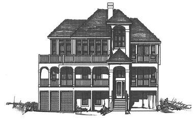 4-Bedroom, 2785 Sq Ft Coastal House Plan - 130-1008 - Front Exterior