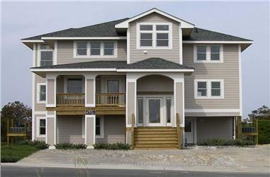 6-Bedroom, 2791 Sq Ft Coastal House Plan - 130-1009 - Front Exterior