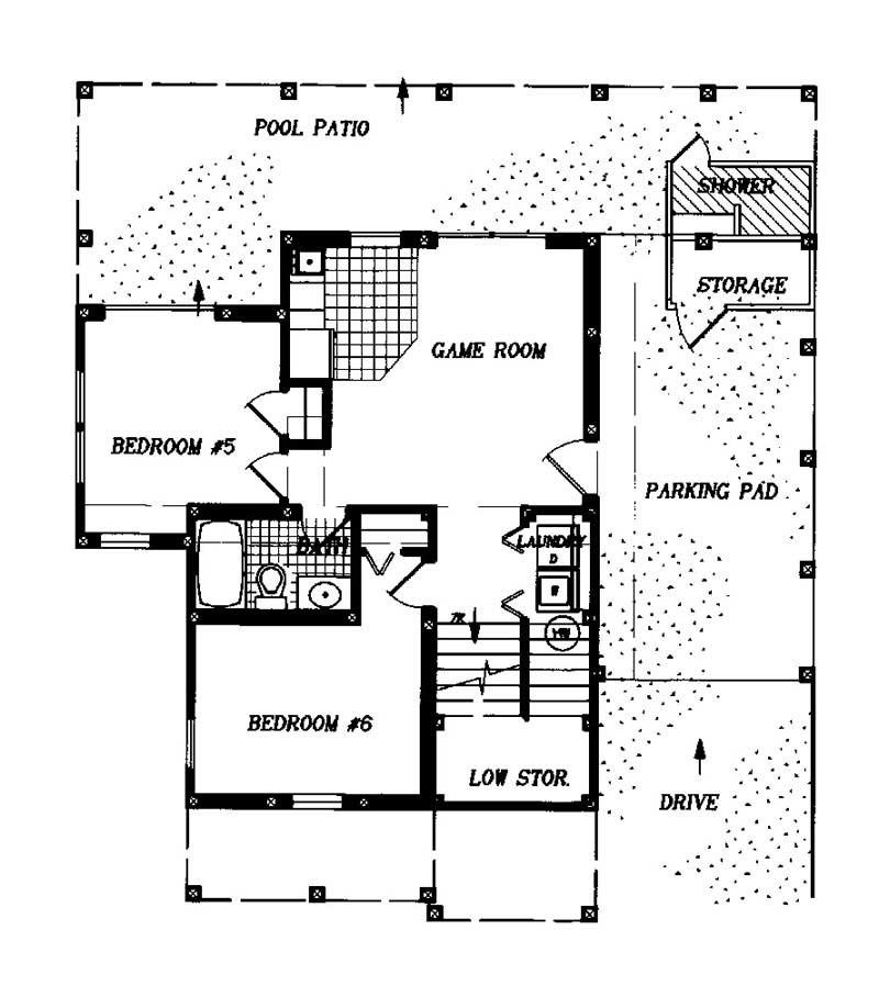 House plan 130 1009 6 bedroom 2791 sq ft coastal Ground floor house plans
