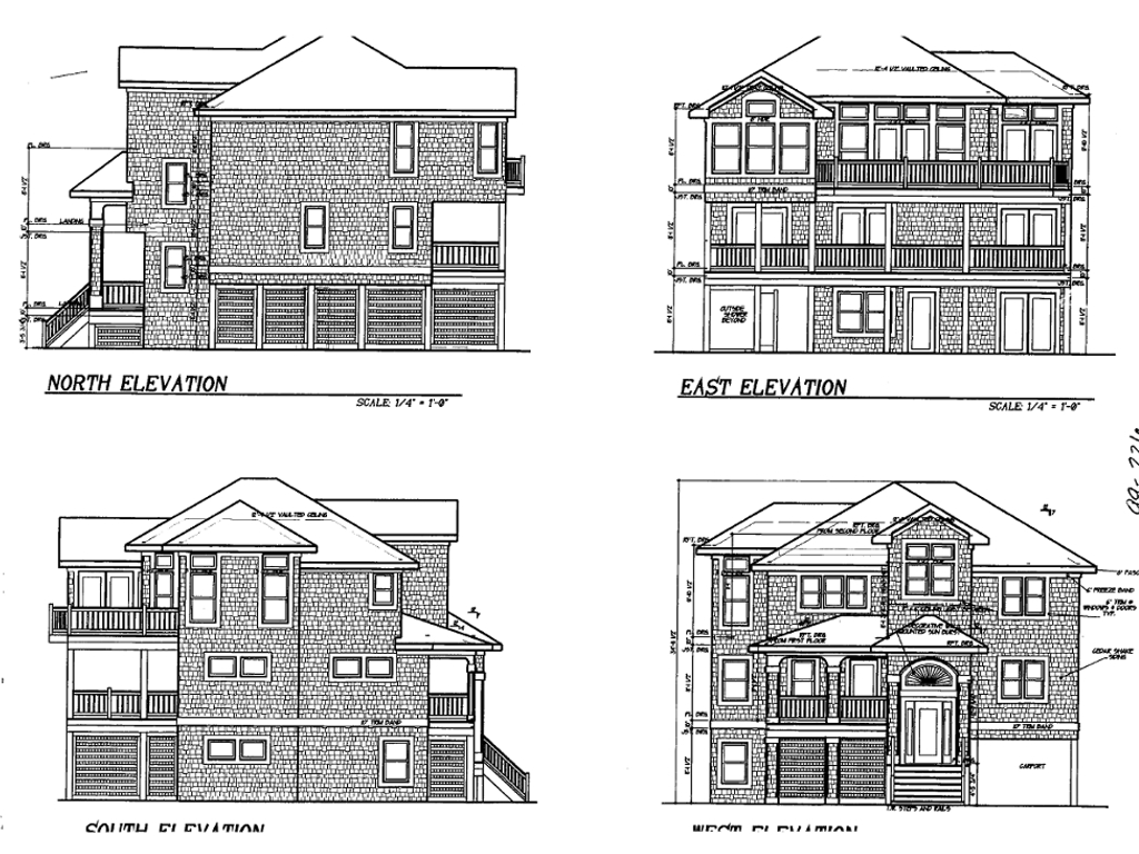 House Elevation Blueprint : House plan bedroom sq ft coastal