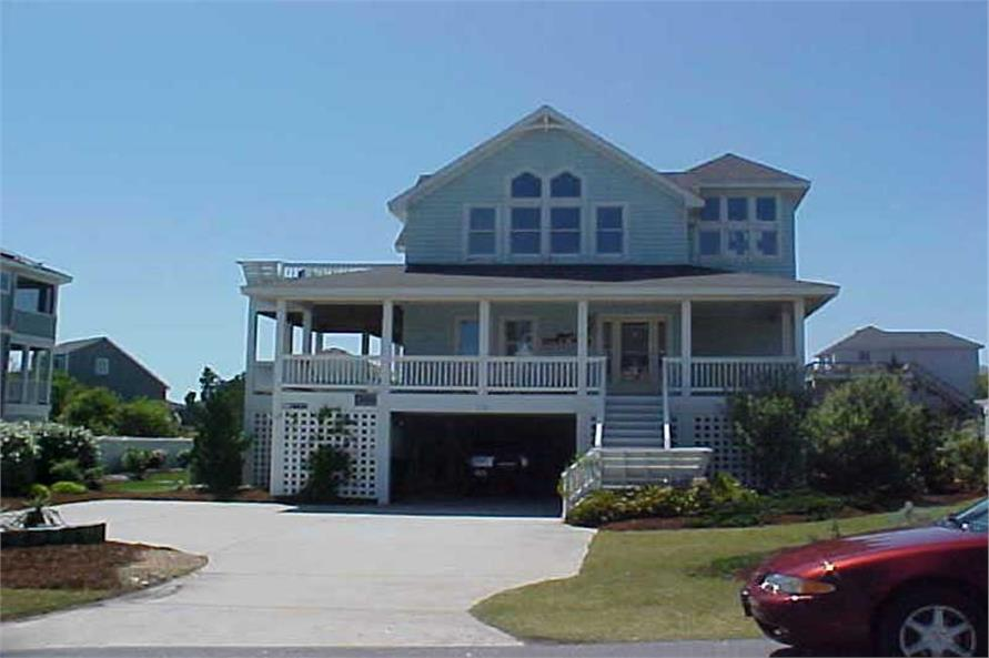 6-Bedroom, 3354 Sq Ft Coastal Home Plan - 130-1011 - Main Exterior