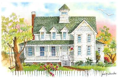 4-Bedroom, 2743 Sq Ft Coastal Home Plan - 130-1012 - Main Exterior
