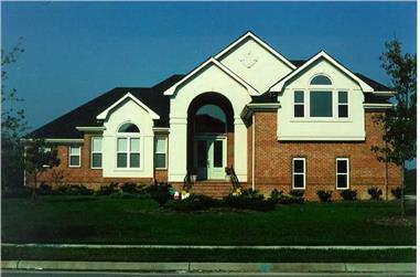4-Bedroom, 3521 Sq Ft European House Plan - 130-1013 - Front Exterior