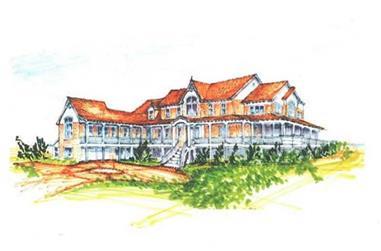 5-Bedroom, 4055 Sq Ft Coastal Home Plan - 130-1014 - Main Exterior