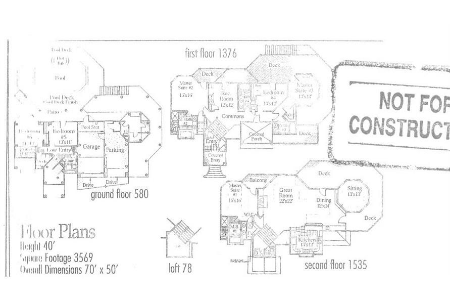 Room dimensions of this 6-Bedroom,3569 Sq Ft Plan -3569