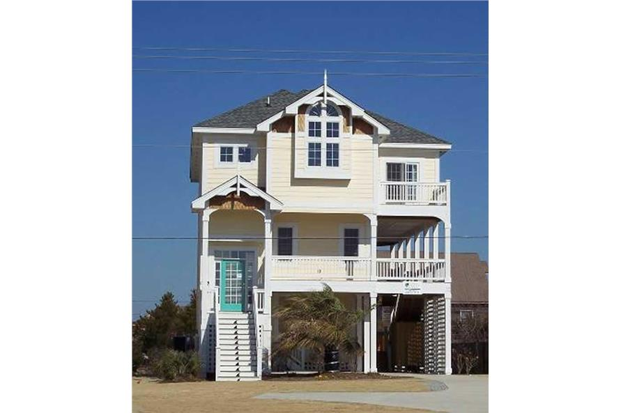 4-Bedroom, 2154 Sq Ft Coastal Home Plan - 130-1021 - Main Exterior
