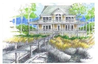 3-Bedroom, 1878 Sq Ft Coastal House Plan - 130-1025 - Front Exterior