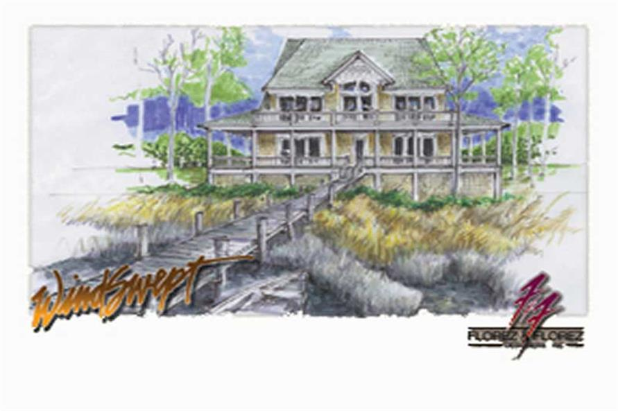 Home Plan Front Elevation of this 3-Bedroom,1878 Sq Ft Plan -130-1025