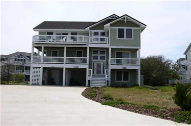 8-Bedroom, 3247 Sq Ft Coastal Home Plan - 130-1032 - Main Exterior