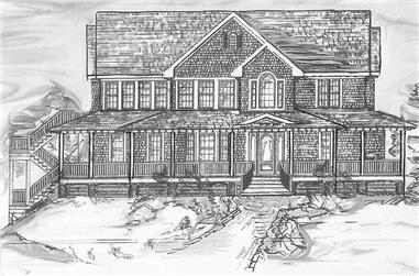 5-Bedroom, 3289 Sq Ft Coastal Home Plan - 130-1034 - Main Exterior