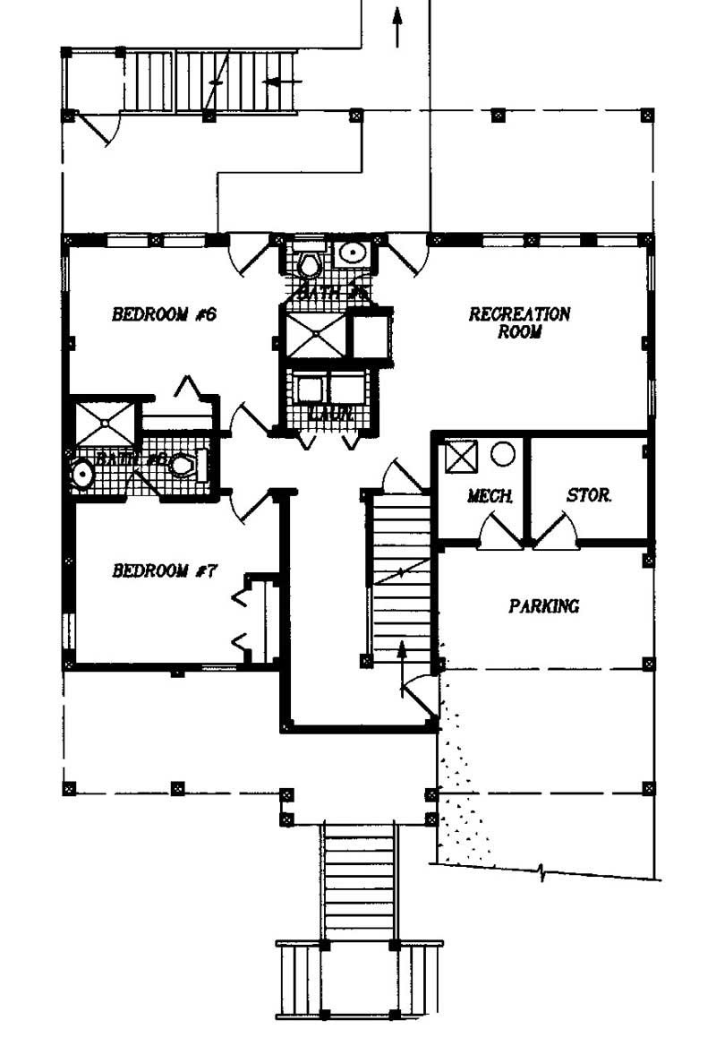 California style coastal multi level house plans home for Multi level home floor plans